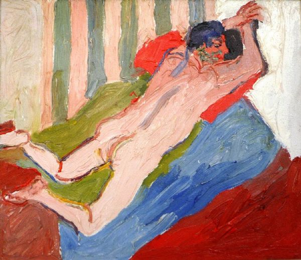 Fred Yates Male Nude Oil on Canvas